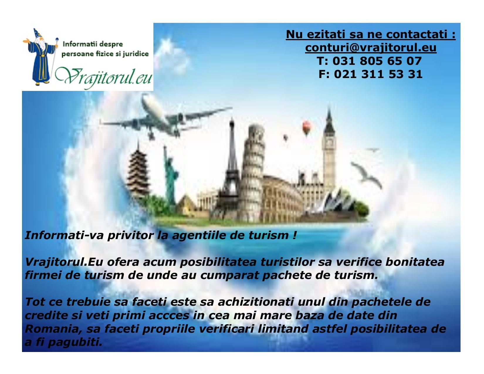 oferta pentru turism